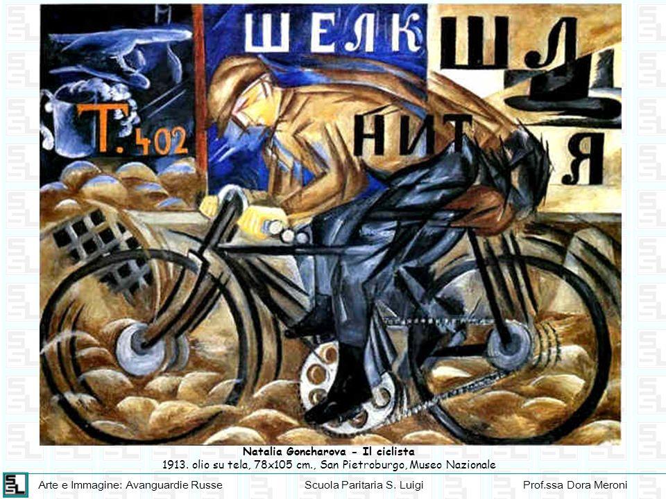 Arte e Immagine: Avanguardie RusseScuola Paritaria S. LuigiProf.ssa Dora Meroni Natalia Goncharova - Il ciclista 1913. olio su tela, 78x105 cm., San P