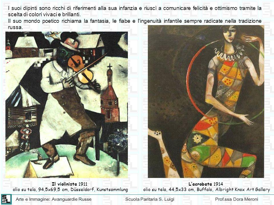 Arte e Immagine: Avanguardie RusseScuola Paritaria S. LuigiProf.ssa Dora Meroni I suoi dipinti sono ricchi di riferimenti alla sua infanzia e riuscì a
