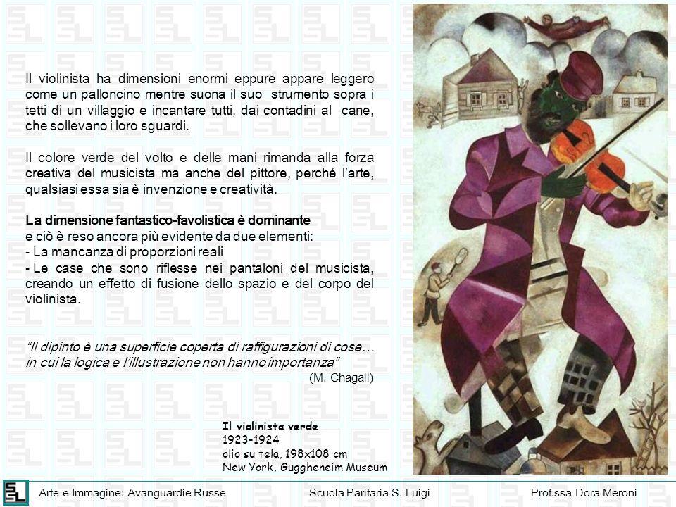 Arte e Immagine: Avanguardie RusseScuola Paritaria S. LuigiProf.ssa Dora Meroni Il violinista verde 1923-1924 olio su tela, 198x108 cm New York, Guggh