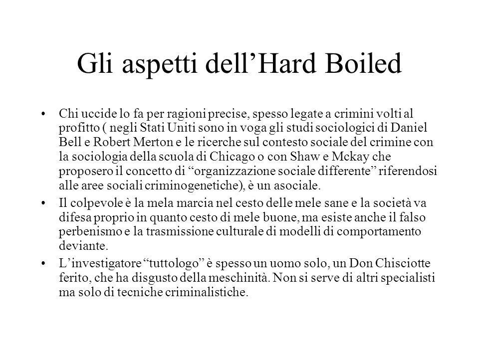 Hard Boiled novel (giallo dazione con trame ricche di violenza- U.S.A.) Lesordio di Dashiel Hammett è del 1929 con Piombo e sangue, Il falcone Maltese