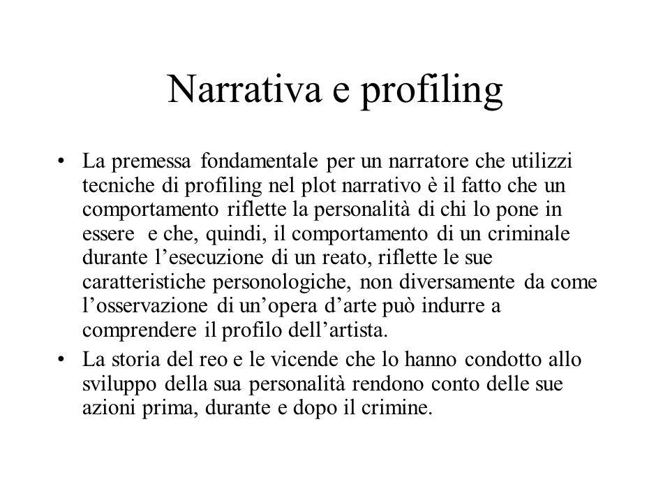 Criminologi e criminal profiling In questi personaggi il moderno concetto di Criminal profiling viene usato e abusato, ma la figura professionale del