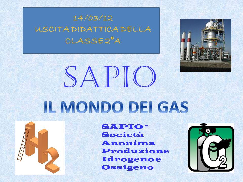 SAPIO = Società Anonima Produzione Idrogeno e Ossigeno 14/03/12 USCITA DIDATTICA DELLA CLASSE 2°A SAPIO