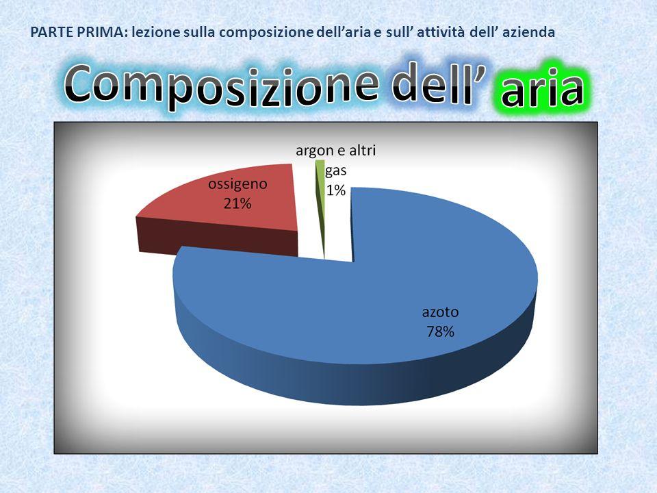 PARTE PRIMA: lezione sulla composizione dellaria e sull attività dell azienda