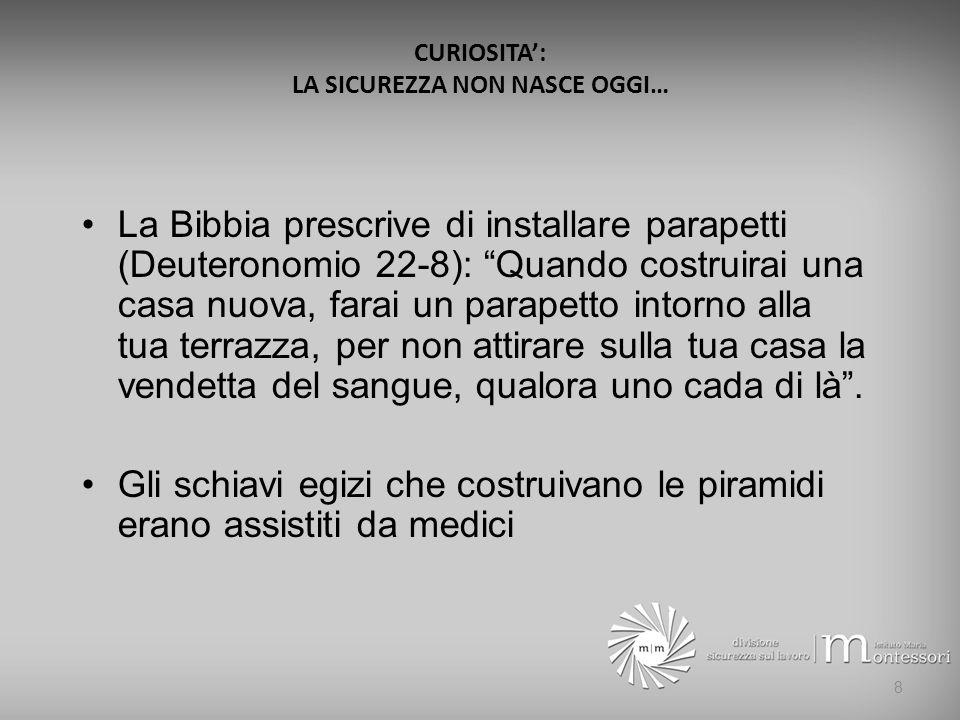 LA NUOVA SICUREZZA: DALLA 626 AL D.Lgs. n. 81/2008 (TESTO UNICO) Il nuovo T.U.