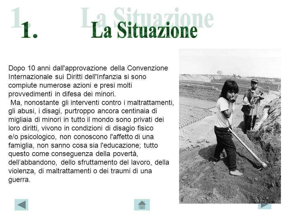 Le Cifre Del Lavoro Minorile (fonte: UNICEF-ITALIA) Nel mondo ci sono circa due miliardi di bambini di età compresa da 0 a 18 anni.