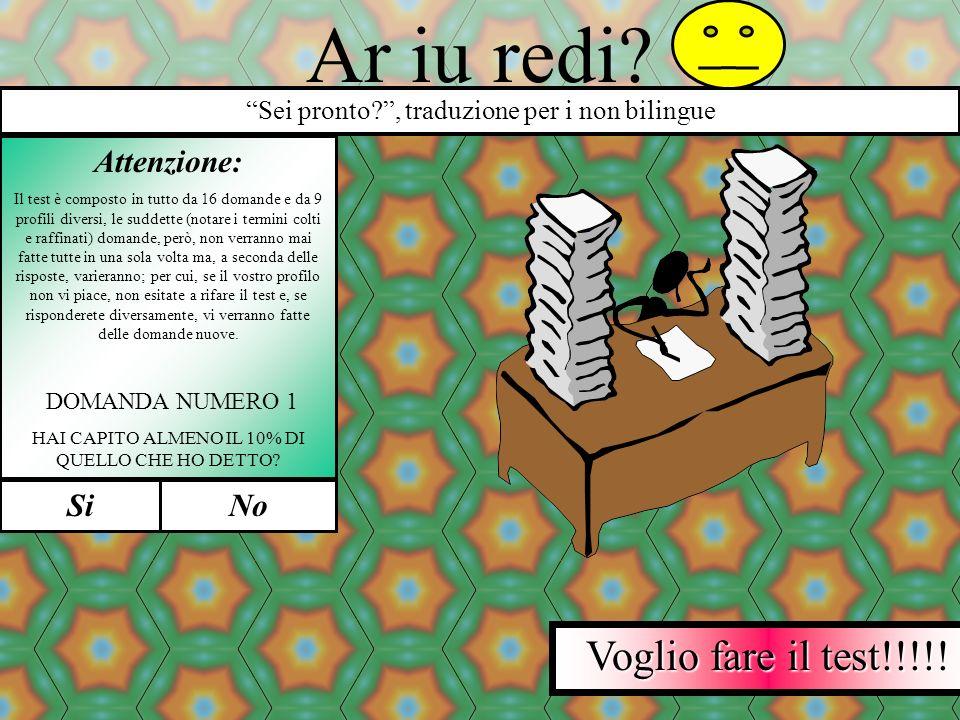 ©Copiraigt 1999/2000 Delfino Paolo MAI NESSUNO AVEVA OSATO TANTO Sei scemo o sei peggio? Il primo test che valuta le tue effettive capacità mentali e