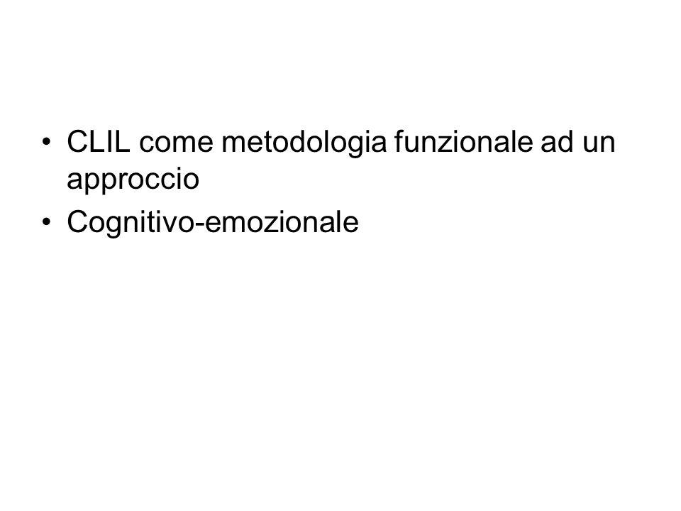 CLIL come metodologia funzionale ad un approccio Cognitivo-emozionale
