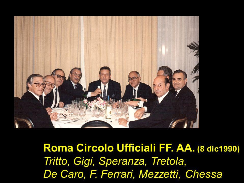 Roma Circolo Ufficiali FF. AA. (8 dic1990) Tritto, Gigi, Speranza, Tretola, De Caro, F. Ferrari, Mezzetti, Chessa