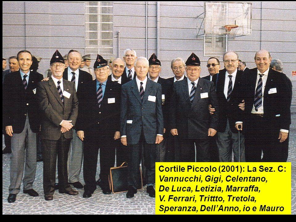 Cortile Piccolo (2001): La Sez. C: Vannucchi, Gigi, Celentano, De Luca, Letizia, Marraffa, V. Ferrari, Trittto, Tretola, Speranza, DellAnno, io e Maur