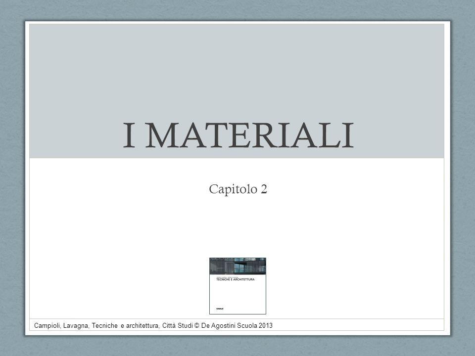 Campioli, Lavagna, Tecniche e architettura, Città Studi © De Agostini Scuola 2013 I MATERIALI Capitolo 2