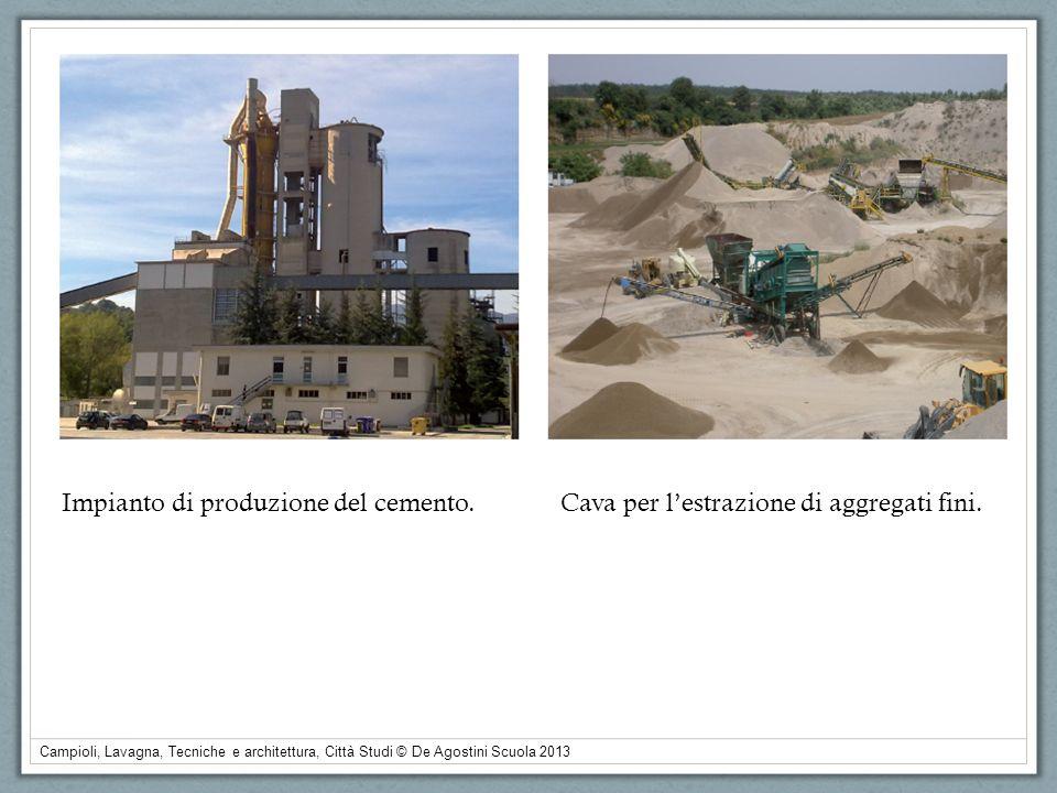 Campioli, Lavagna, Tecniche e architettura, Città Studi © De Agostini Scuola 2013 Impianto di produzione del cemento.Cava per lestrazione di aggregati