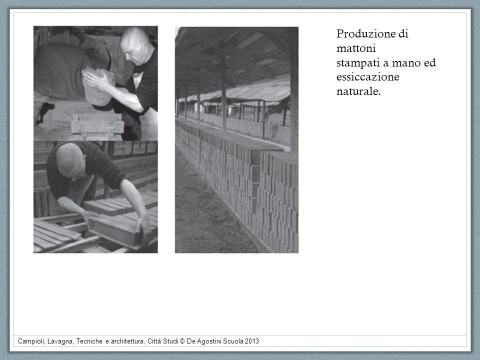 Campioli, Lavagna, Tecniche e architettura, Città Studi © De Agostini Scuola 2013 Produzione di mattoni stampati a mano ed essiccazione naturale.