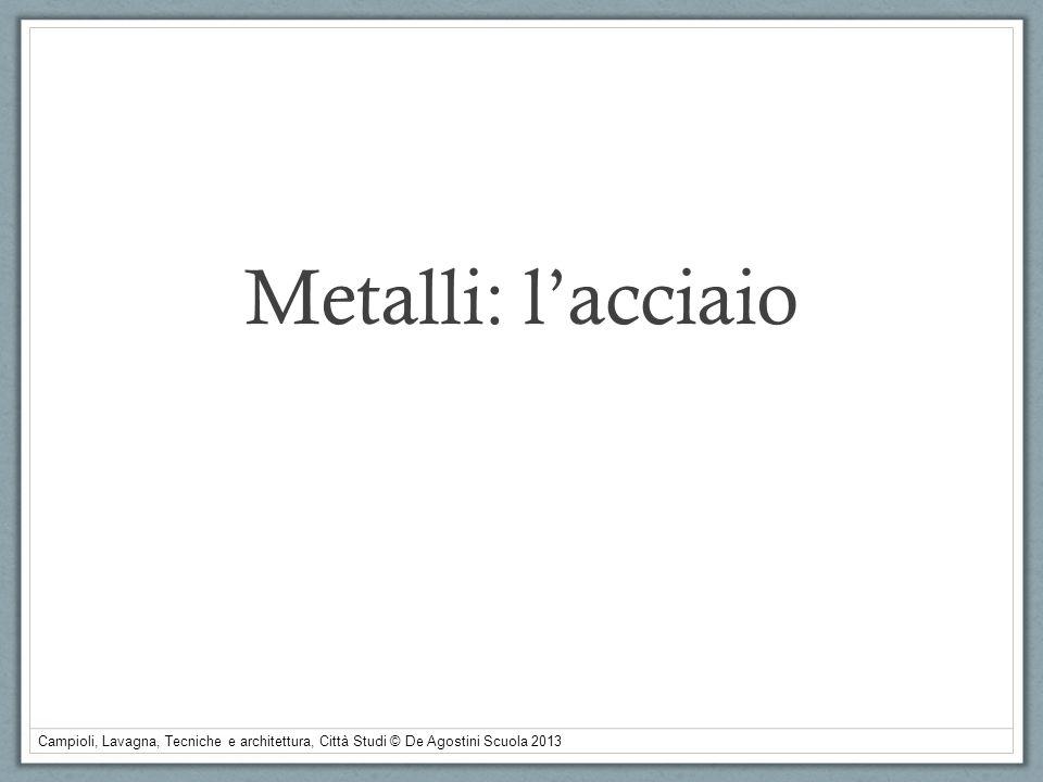 Campioli, Lavagna, Tecniche e architettura, Città Studi © De Agostini Scuola 2013 Metalli: lacciaio