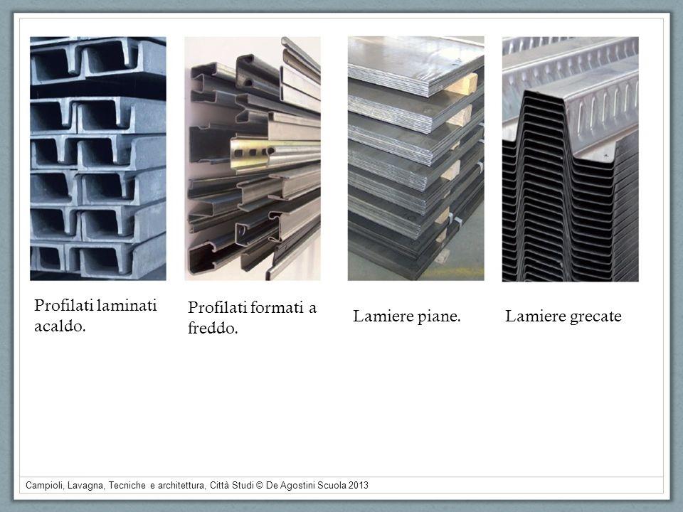 Campioli, Lavagna, Tecniche e architettura, Città Studi © De Agostini Scuola 2013 Profilati laminati acaldo. Profilati formati a freddo. Lamiere piane