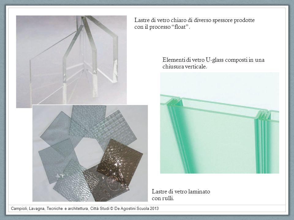 Campioli, Lavagna, Tecniche e architettura, Città Studi © De Agostini Scuola 2013 Lastre di vetro chiaro di diverso spessore prodotte con il processo