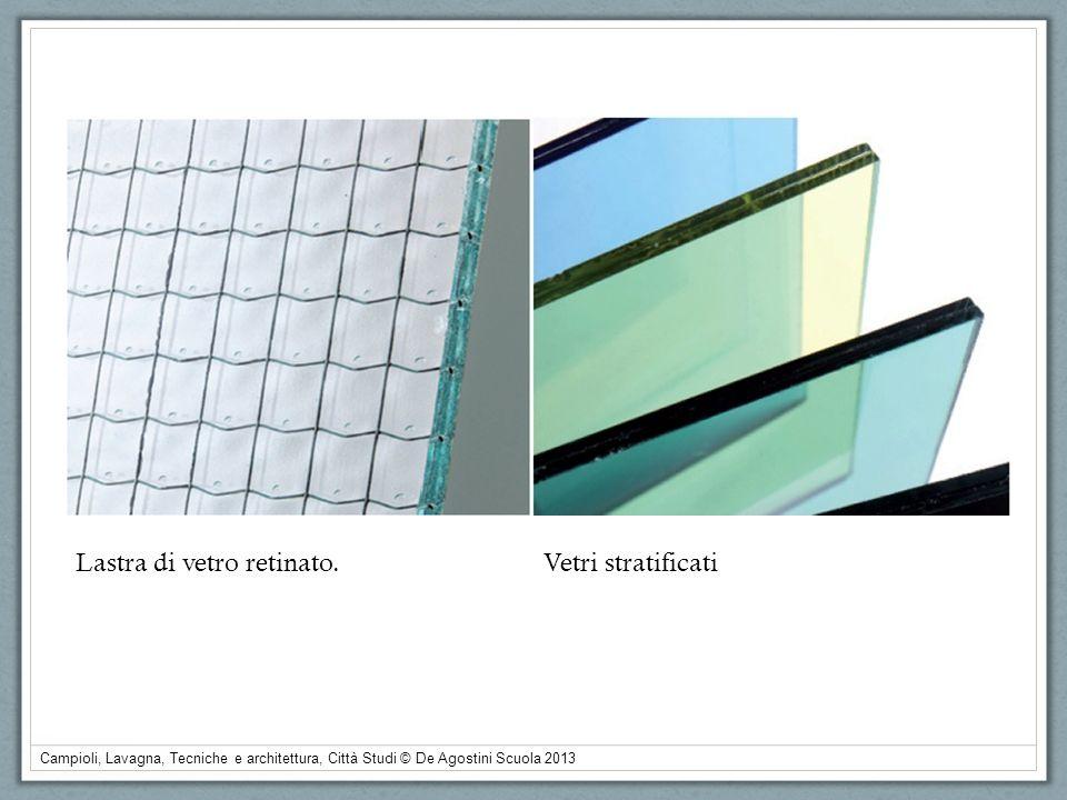 Campioli, Lavagna, Tecniche e architettura, Città Studi © De Agostini Scuola 2013 Lastra di vetro retinato.Vetri stratificati