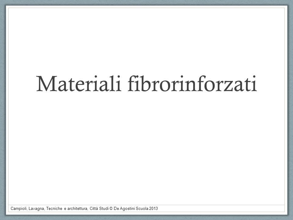 Campioli, Lavagna, Tecniche e architettura, Città Studi © De Agostini Scuola 2013 Materiali fibrorinforzati