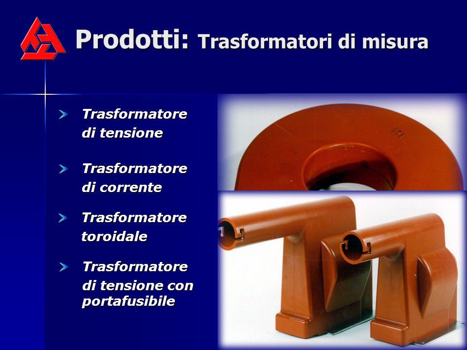 Prodotti: Trasformatori di misura Trasformatore di tensione Trasformatore di corrente Trasformatoretoroidale Trasformatore di tensione con portafusibi