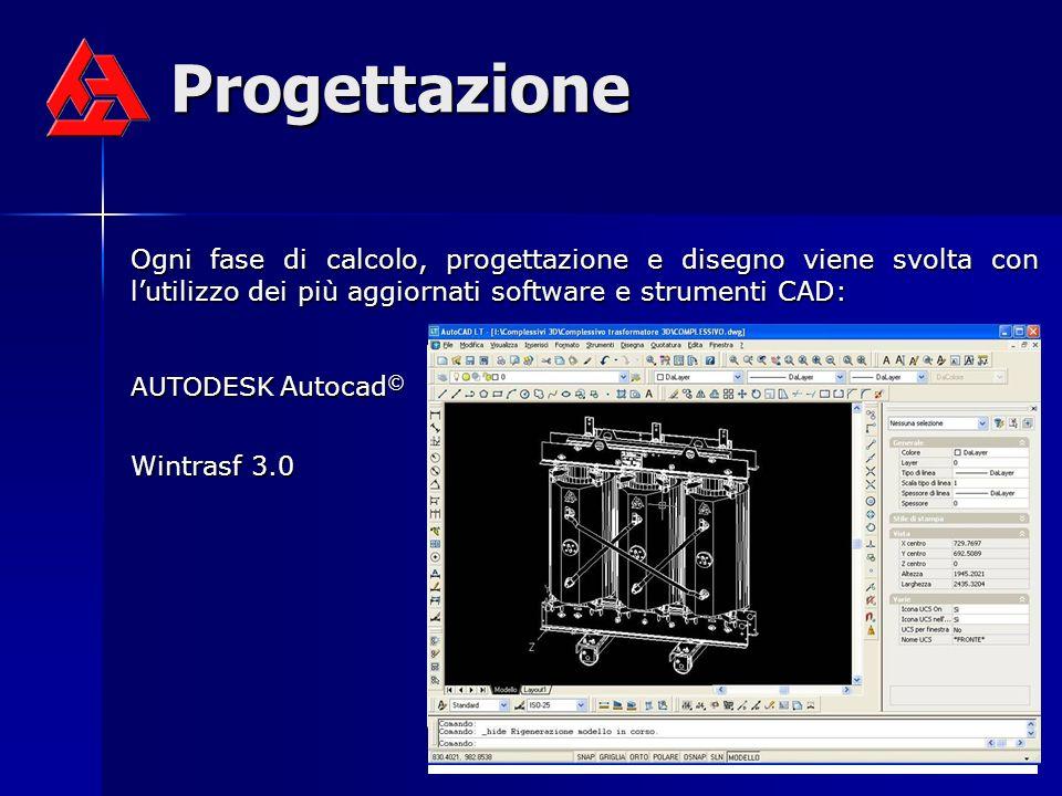 Progettazione Ogni fase di calcolo, progettazione e disegno viene svolta con lutilizzo dei più aggiornati software e strumenti CAD: AUTODESK Autocad ©