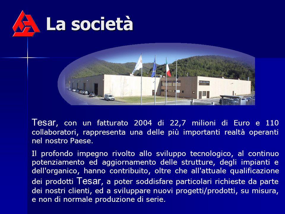 La società Tesar, con un fatturato 2004 di 22,7 milioni di Euro e 110 collaboratori, rappresenta una delle più importanti realtà operanti nel nostro P