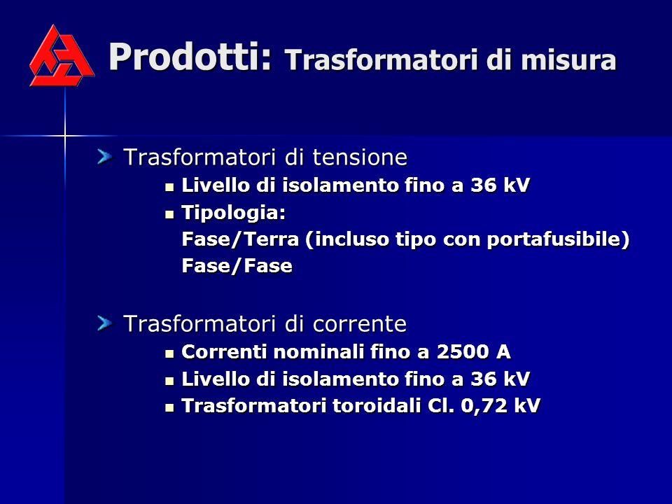 Prodotti: Trasformatori di misura Trasformatori di tensione Trasformatori di tensione Livello di isolamento fino a 36 kV Livello di isolamento fino a