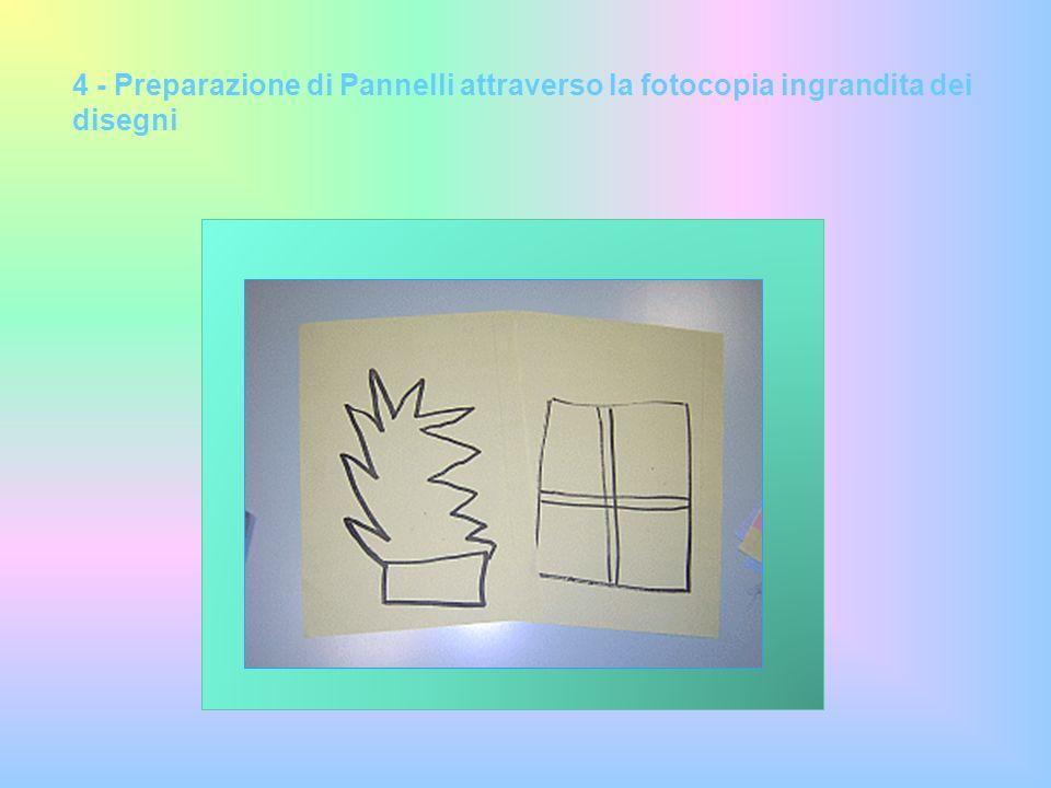 ATTIVITA svolte da genitori insieme ai bambini 5 - Realizzazione dei Pannelli attraverso la tecnica del COLLAGE
