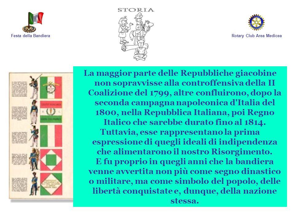 Rotary Club Area MediceaFesta della Bandiera La maggior parte delle Repubbliche giacobine non sopravvisse alla controffensiva della II Coalizione del