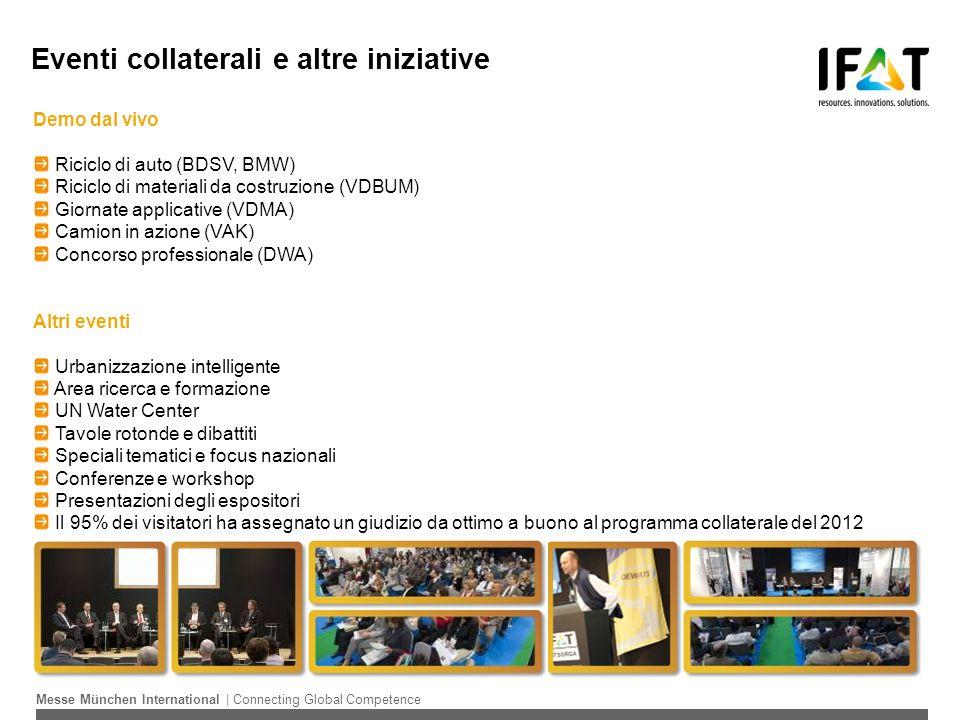 IFAT EURASIA 2015 Date: Primavera 2015 Frequenza: Biennale Sede:Istanbul Organizzazione:Messe München International Ingresso:Gratuito, previa registrazione, riservato agli operatori