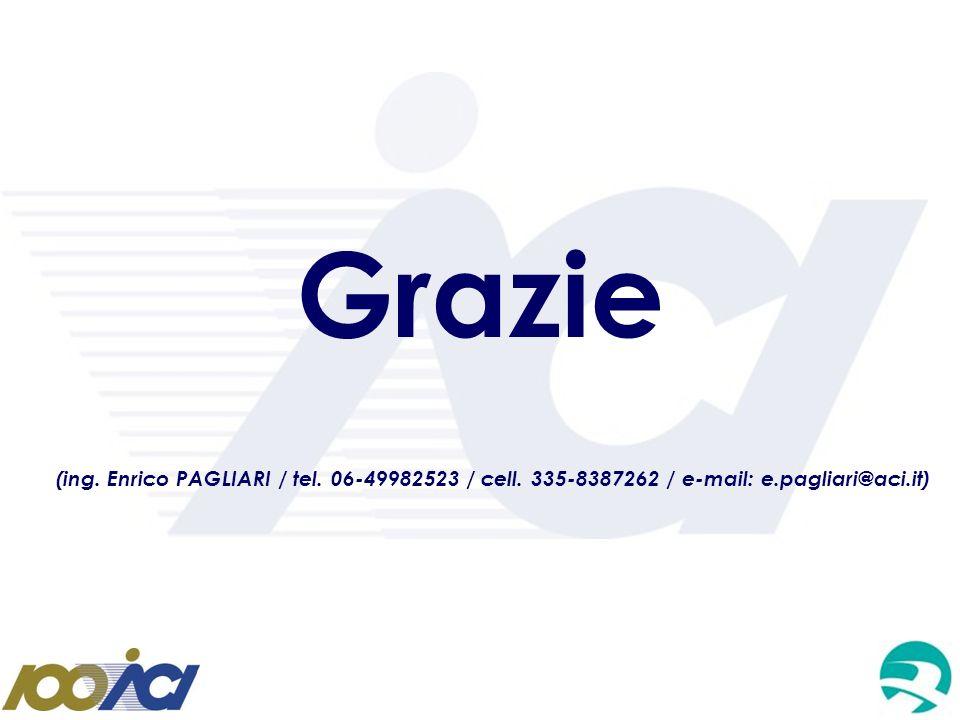 Grazie (ing. Enrico PAGLIARI / tel. 06-49982523 / cell. 335-8387262 / e-mail: e.pagliari@aci.it)