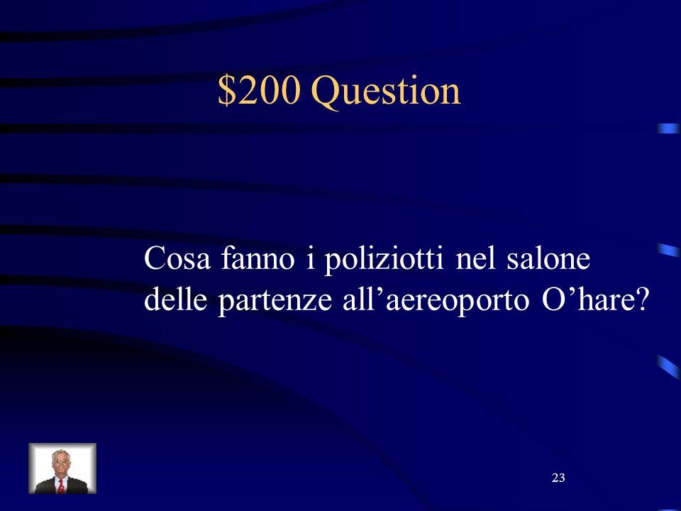 23 $200 Question Cosa fanno i poliziotti nel salone delle partenze allaereoporto Ohare