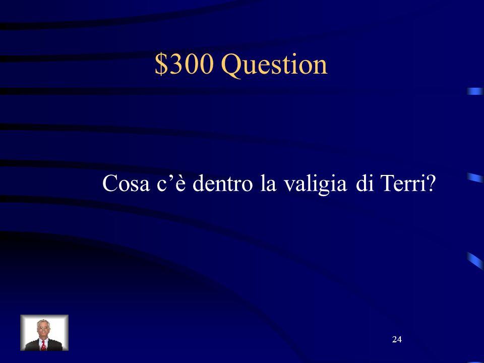 24 $300 Question Cosa cè dentro la valigia di Terri