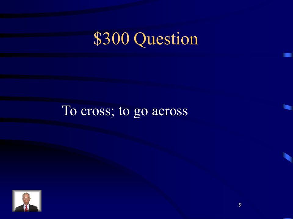 20 $400 Question Chi è luomo che lavora con Signor e Signora Lebrun? Cosa fa?