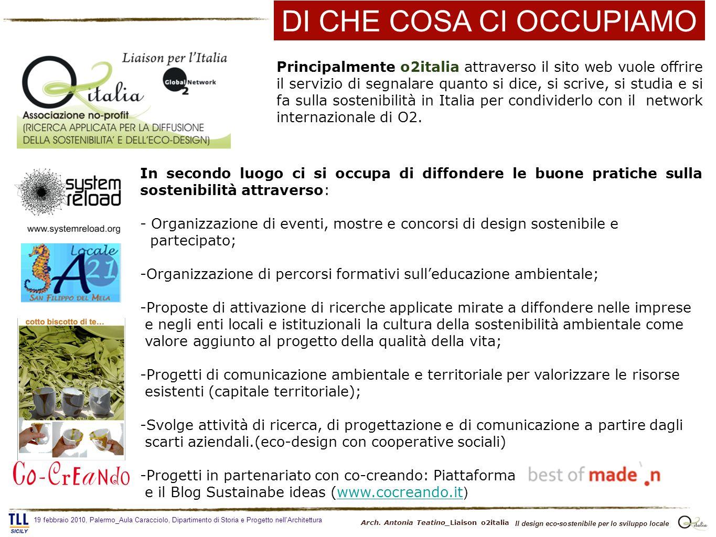 Principalmente o2italia attraverso il sito web vuole offrire il servizio di segnalare quanto si dice, si scrive, si studia e si fa sulla sostenibilità in Italia per condividerlo con il network internazionale di O2.