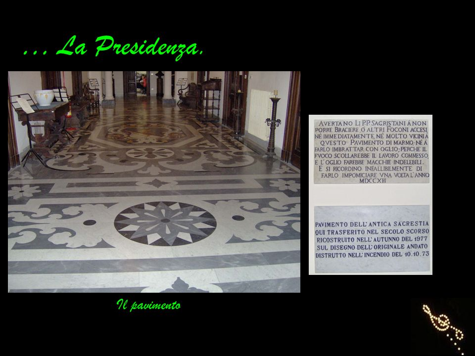 … La Presidenza. Il pavimento