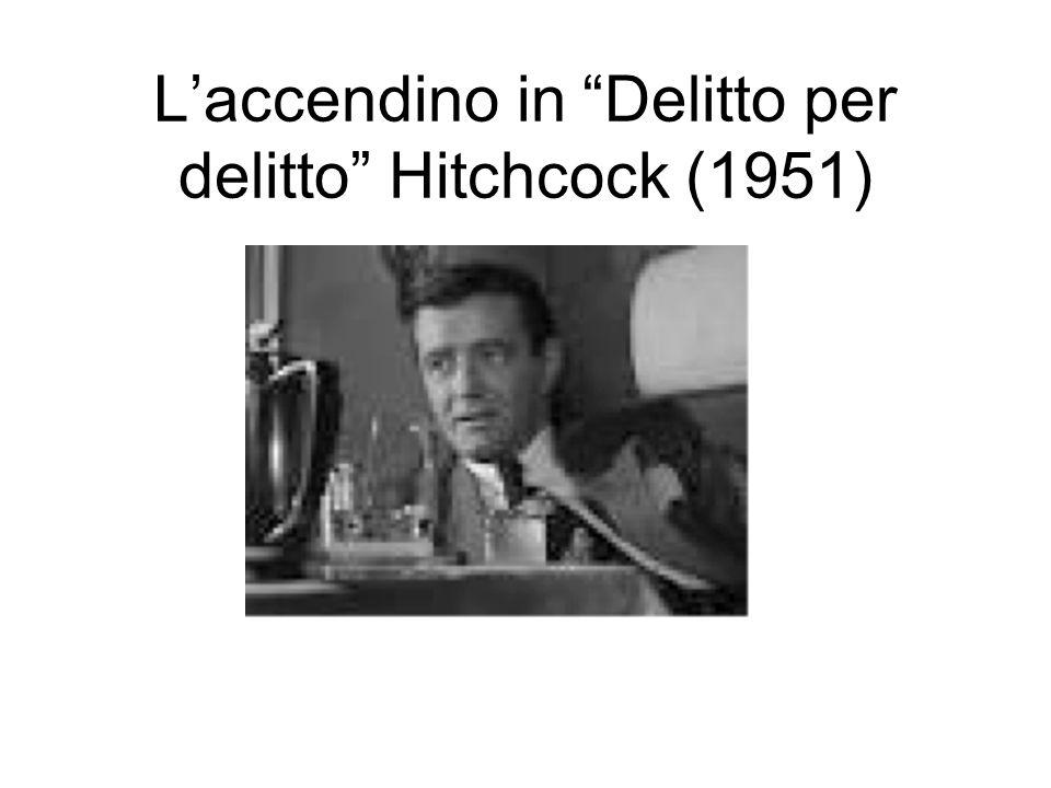 Laccendino in Delitto per delitto Hitchcock (1951)