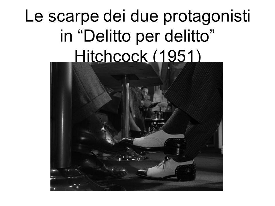 Le scarpe dei due protagonisti in Delitto per delitto Hitchcock (1951)