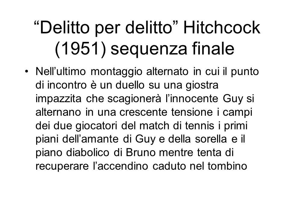 Delitto per delitto Hitchcock (1951) sequenza finale Nellultimo montaggio alternato in cui il punto di incontro è un duello su una giostra impazzita c