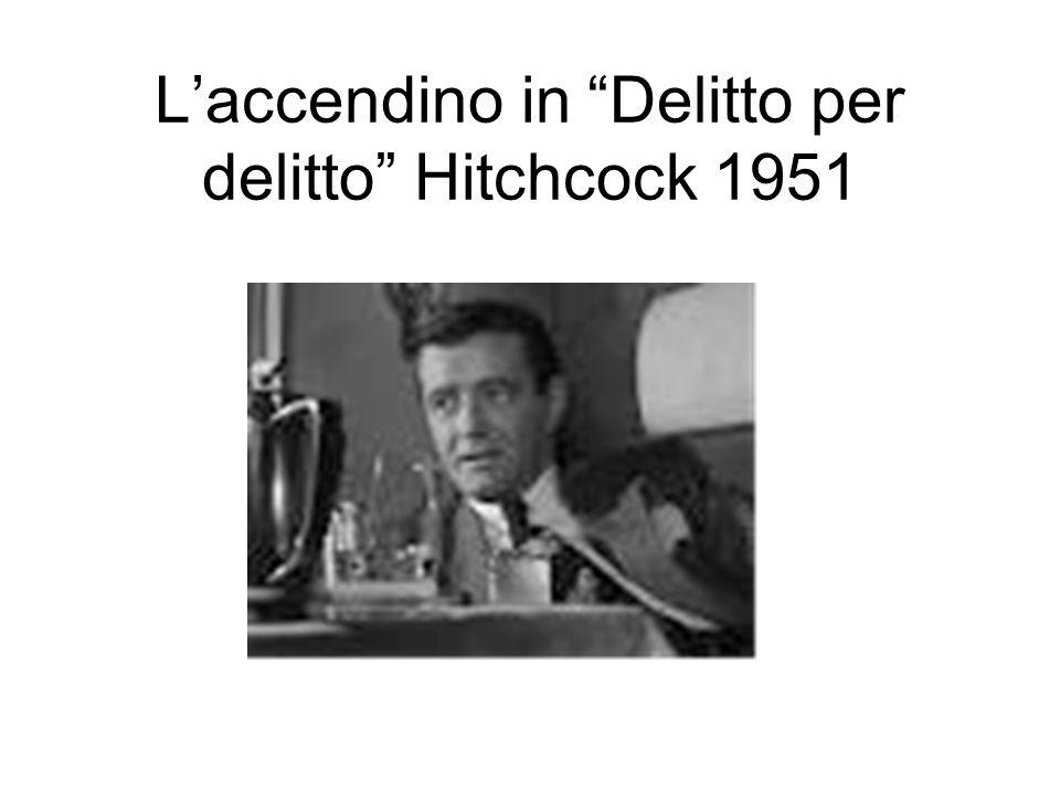 Laccendino in Delitto per delitto Hitchcock 1951
