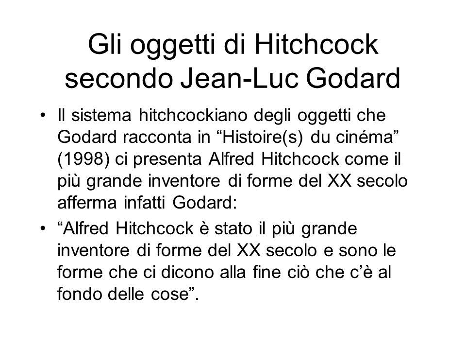 Gli oggetti di Hitchcock secondo Jean-Luc Godard Il sistema hitchcockiano degli oggetti che Godard racconta in Histoire(s) du cinéma (1998) ci present