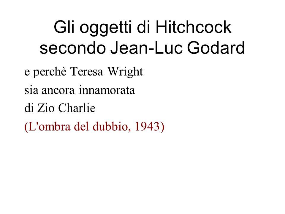 Gli oggetti di Hitchcock secondo Jean-Luc Godard e perchè Teresa Wright sia ancora innamorata di Zio Charlie (L ombra del dubbio, 1943)