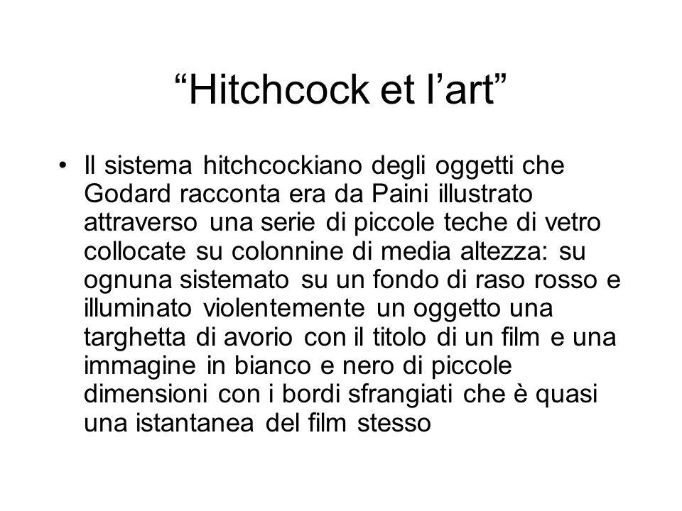 Hitchcock et lart Il sistema hitchcockiano degli oggetti che Godard racconta era da Paini illustrato attraverso una serie di piccole teche di vetro co