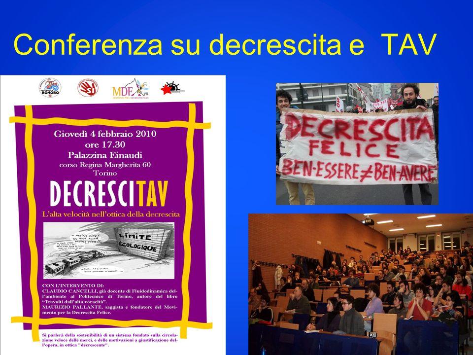 Conferenza su decrescita e TAV