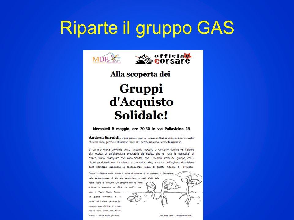 Riparte il gruppo GAS