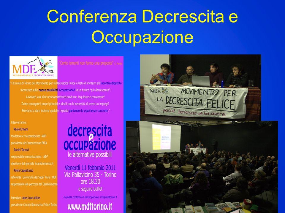 Conferenza Decrescita e Occupazione