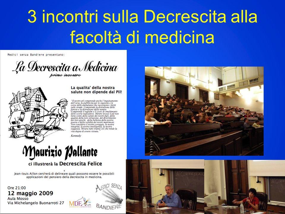 3 incontri sulla Decrescita alla facoltà di medicina