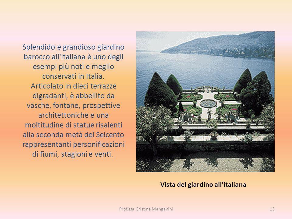 Splendido e grandioso giardino barocco all'italiana è uno degli esempi più noti e meglio conservati in Italia. Articolato in dieci terrazze digradanti