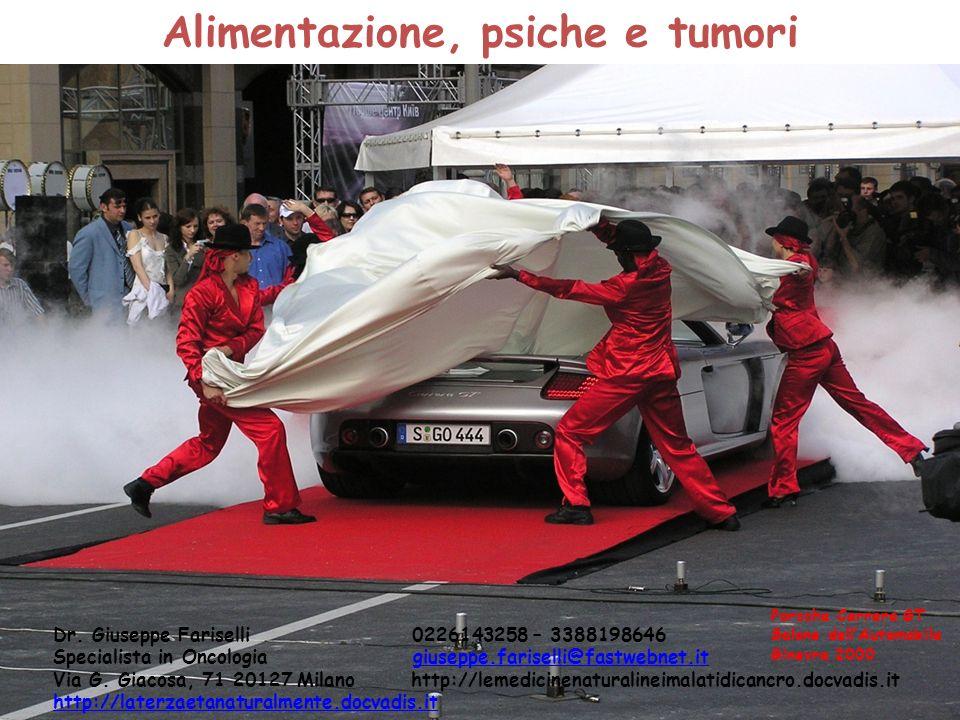 Alimentazione, psiche e tumori Dr. Giuseppe Fariselli 0226143258 – 3388198646 Specialista in Oncologia giuseppe.fariselli@fastwebnet.itgiuseppe.farise