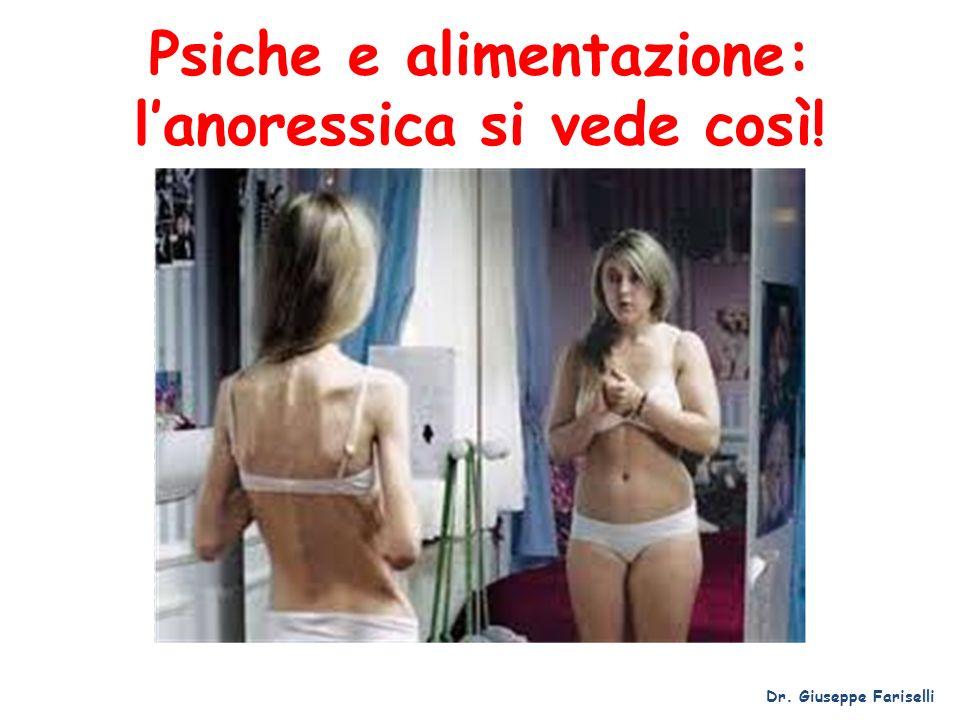 Psiche e alimentazione: lanoressica si vede così! Dr. Giuseppe Fariselli