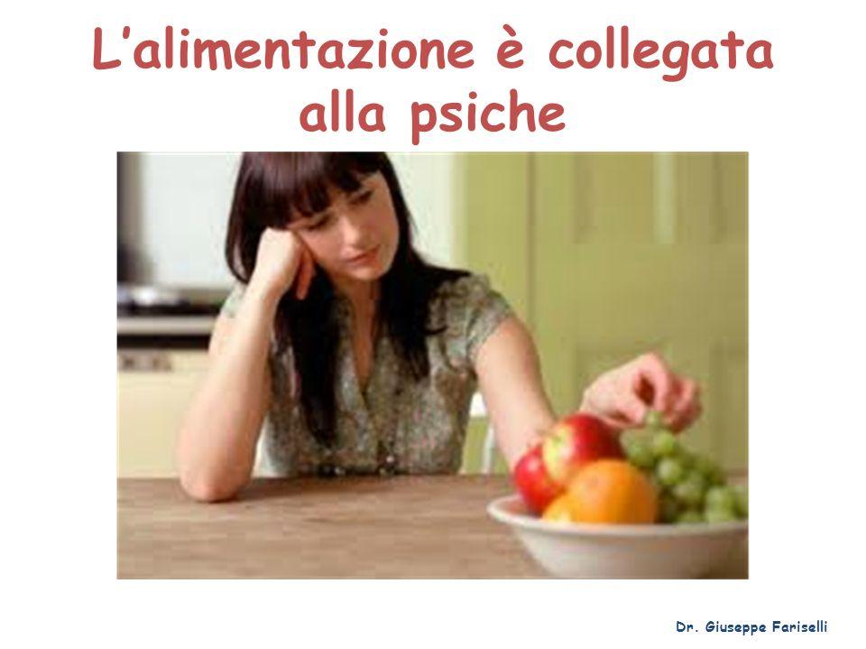 Lalimentazione è collegata alla psiche Dr. Giuseppe Fariselli