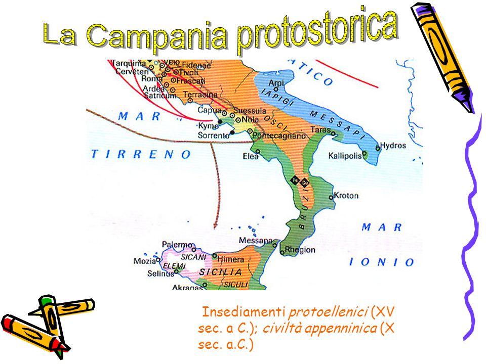 Insediamenti protoellenici (XV sec. a C.); civiltà appenninica (X sec. a.C.)